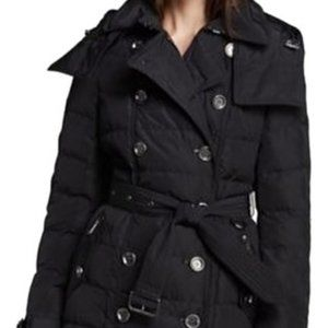 Burberry Down Quilted Double-Breasted Puffer Coat